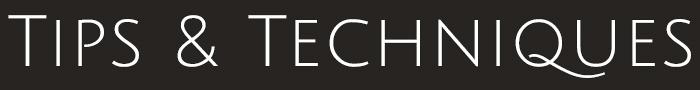 Tips & Techniques Logo